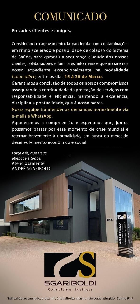 Comunicado - Sgariboldi Consulting Business